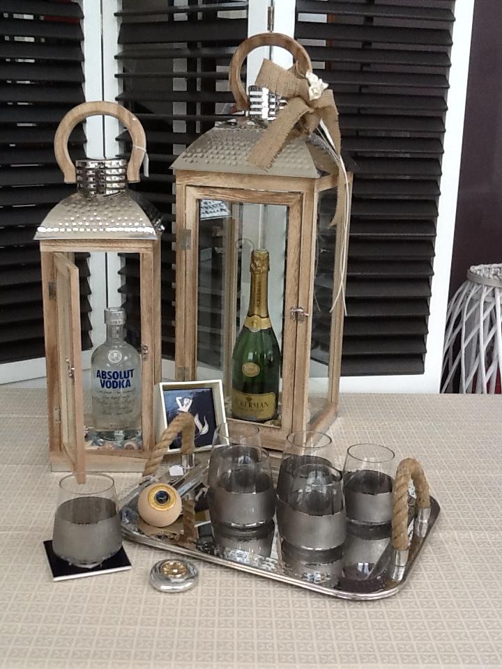 Ιδέες για δώρο , Φανάρια με ποτά – ποτήρια – διάφορα διακοσμητικά